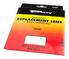 Pair of (2) Forney Industries 57056 Clear Glass Replacement Gas Welding Lens