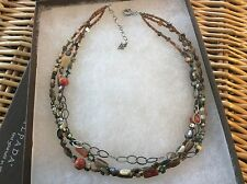 SILPADA Necklace N1563 FIESTA FUN .925 Sterling Silver, Red Coral & Shell