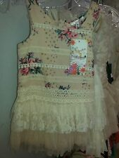 Baby Sara Vintage Floral Lace Tutu Dress Size 5 All Seasons