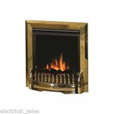 DIMPLEX EXBURY EBY15 ELECTRIC INSET FIRE FAN HEATER WITH REAL COALS & REMOTE