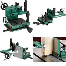 Tenoning Jig Fits Fully Adjustable Table Saws Wood Grip Handles Clamping Wheel