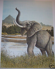 """Bull Elephant"" by Christine Marshall Limited Edition ARP Lithograph #10/25"