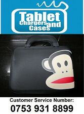 "Black Paul Frank Monkey Hard Shell Carry Case/Bag for 9.7""/10"" Inch Tablet PC"