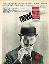 PUBLICITE ADVERTISING 015  1963  NESTEA  thé anglais soluble
