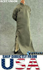 "U.S. SELLER - 1/6 Scale Long Sleeves Kung Fu Suit Robe Set GRAY For 12"" Figures"
