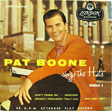 "PAT BOONE ""SINGS THE HITS part.2""  ep UK 4 tracks near mint"