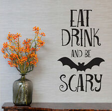 Halloween Witches Bats Quote Removable Wall Stickers Vinyl Art Mural Decal Decor
