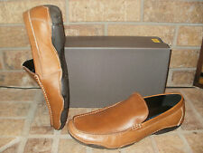 New Kenneth Cole Reaction De-Tour Cognac Brown Leather Loafer 12 M/ $85