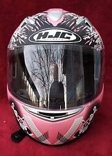 Women's pink HJC Arkanium motorcycle helmet (Rare, Hard to find Pattern)