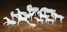 12 Vintage Miniature Herd Porcelain White Horse Figurines China Japan Group set