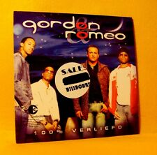 Cardsleeve single CD Gordon & Roméo 100% Verliefd 2 TR 2003 Dutch Pop