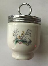 Vintage Royal Worcester England Porcelain Floral Bird Egg Coddler