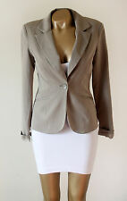 Vero Moda Beige 'Hyland' Blazer Tailored Fitted Fully Lined Jacket EUR 38 UK 12