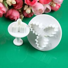 Hot Diy Baking 2Pcs/Set Holly Leaf Decorating Cutters Mould Bakeware Tools  GR16