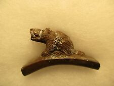 UNIQUE TRIBAL PIPE BOWL, OHIO PIPESTONE HOPEWELL BEAVER EFFIGY PIPE....CHI-00474