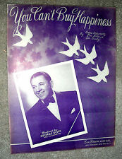1948 YOU CAN'T BUY HAPPINESS Vintage Sheet Music GEORGE OLSEN Schwartz, Noto