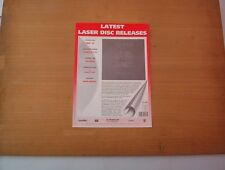 QUEEN Greatest Flix 1 and 3 (laser disc)  ONE page PRESS RELEASE