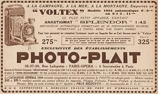 Y7086 PHOTO-PLAIT - Appareil Voltex - Pubblicità d'epoca - 1934 Old advertising
