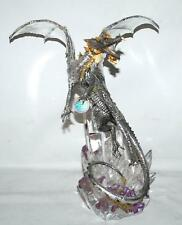 FRANKLIN MINT MICHAEL WHELAN STERLING SILVER DRAGON STATUE FIGURINE