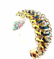 ELEGANT COLORFUL MULTI LAYER DIAMANTE CHUNKY BRACELET UNIQUE (CL8)