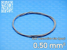 Automotive wire FLRY 0.5mm², grey color, 1 meter length