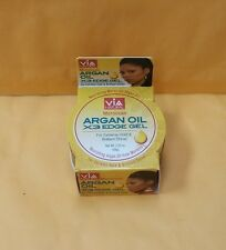Via Natural Moroccan Argan Oil X3 Edge Gel 2.25 oz New for EXTREME HOLD & SHINE