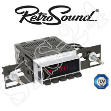 "RETROSOUND Autoradio ""Model 2"" Chrom Display mit schwarzen Drucktasten Bluetooth"