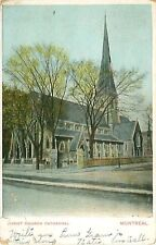 Vintage 1909 Postmark Christ Church Cathedral Montreal Canada Postcard