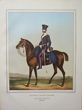 LARGE PRINT ~  CAVALRY BRITISH ARMY OFFICERS ~ 13th LIGHT DRAGOONS ~ (UNDRESS)