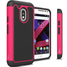 Hot Pink Hard Case for Motorola Moto G4 Play/Moto G Play 4th Gen Hybrid Cover