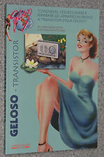 libro Antique Radio GELOSO TRANSISTOR d'epoca Set Old Radios radio schemi ripara