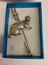 "Ferret PP-A39 Pewter Emblem Kilt Pin Scarf or Brooch 3"" 7.5 cm"