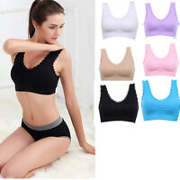 Sexy Lot Seamless Lace Stretch Fitness Exercise Yoga Genie Racerback Sports Bra