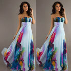 Sexy Long Women Strapless Evening Party Formal Bridesmaid Prom Gown Dress Maxi
