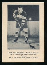 1951-52 Laval Dairy (QSHL) #100 LES DOUGLAS (Montreal) -Red Wings