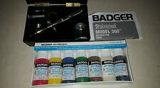 Badger 360 Universal Airbrush only. Double action. Gravity + siphon feed & Paint