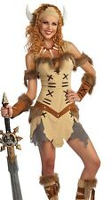 Viking Warrior Princess Costume Dress Sexy Adult Womens Female - Fast Ship -