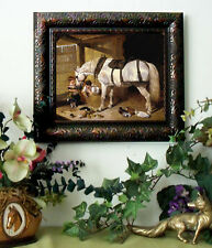 Herring Arabian Farm Horse Print Antique Style Framed Pony picture fy