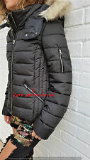 Zara NEW black WATER REPELLENT HOODED PUFFER COAT JACKET SIZE XS
