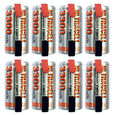 8 x Sub C 1.2V Volt 3300mAh NiMH Rechargeable Battery With Tabs Ultracell