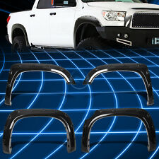 Black Glossy ABS Pocket-Rivet Style Fender Wheel Flare for 2014-2017 Tundra TRD