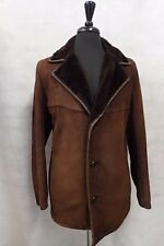 Men's Marrone Vera Cappotto in montone 42 jb391
