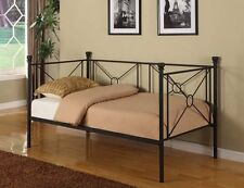 Texture Black Metal Twin Size Day Bed (Daybed) Frame With Rails ~New~