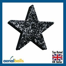 Black Stardust Glitter STAR Car Aerial Ball Antenna Topper