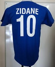 FRANCE RETRO ZIDANE 10 FOOTBALL TEE SHIRT ADULTS SIZE LARGE BRAND NEW