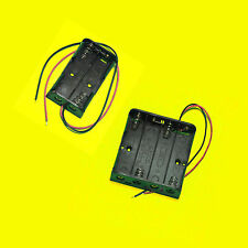 Plastic Battery Storage Case Box Holder For 4 X AA & 2 X AA wire leads arduino