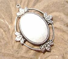 1160 - Bezel Mounting Pendant  Setting .925 Sterling Brass Oval for 18x13mm Cab