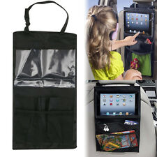 Car Auto Seat Back iPad Multi-Pocket Storage Bag Organizer Holder Hanger Black