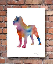 CANE CORSO Contemporary Watercolor Dog Abstract ART Print by Artist DJR