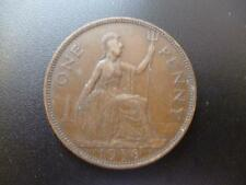 1938 ONE PENNY COIN KING GEORGE THE SIXTH, BRONZE, GOOD USED CONDITION.